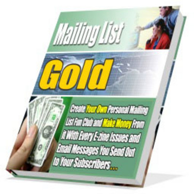Pay for *new* Mailing List Gold Master Resale Right
