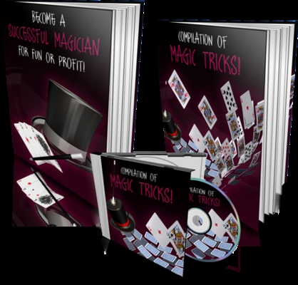 Pay for Magic Tricks Template with 2 PLR eBook & 1 Audio