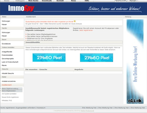 Pay for ImmoSpy - Online - Immobilienmarkt - PHP-Script - Anzeiger