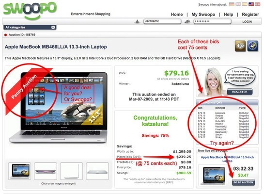 Pay for Swoopo Clone TheperfectBid (working)