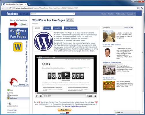 Pay for Wordpress for Fanpage