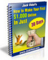 Thumbnail How To Make Your First $1000 Online In Just 30 Days