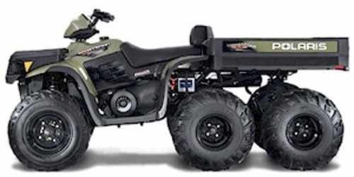 Pay for 2007 Polaris 500 6x6 ATV Complete Service Manual