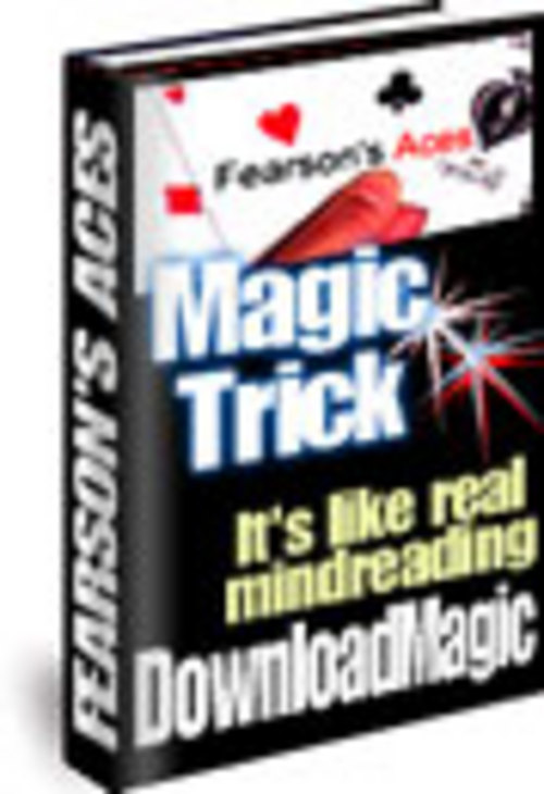 Pay for Fearsons Aces Magic Trick trickery