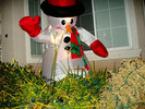 Thumbnail Holiday Cheer: Plastic Snowman Outside At Night - PLR