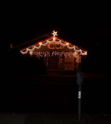 Pay for Image - Holiday Christmas Lights On Street - PLR