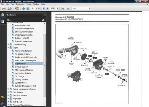sea doo gtx wake 4 tec 2007 factory service repair manual download pdf