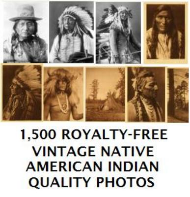 Pay for 1,500 Vintage Native American Indian Photos Images