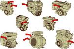 Thumbnail Lawnmower Engine 600 series model 120000 Operating Manual