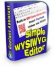 Thumbnail Simple WYSIWYG Editor