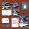 Thumbnail Carian Blue Print Design Template