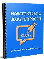 Pay for How to Start a Blog for Profit