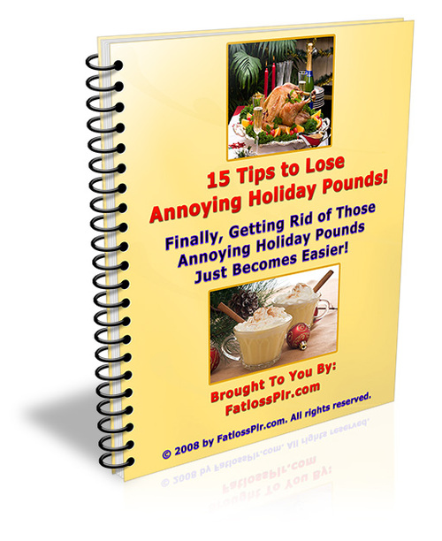 Pay for 15 Tips to Lose Annoying Holiday Pounds - with PLR