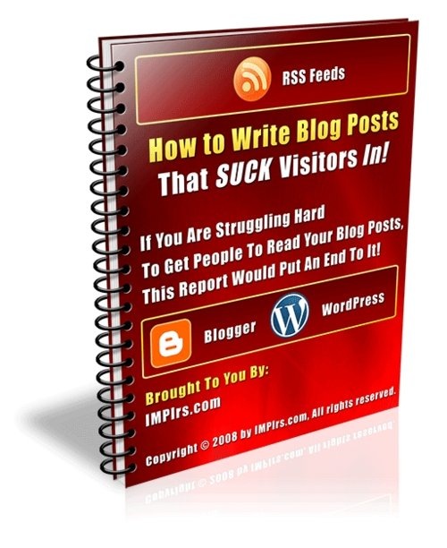 Pay for How to Write Blog Posts That SUCK Visitors In - with PLR