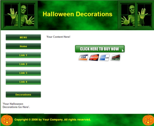 Pay for 12 Halloween Articles and 1 Minisite Template - with PLR