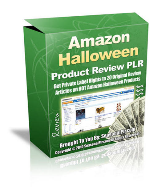 Pay for 20 Halloween Product Reviews - with PLR