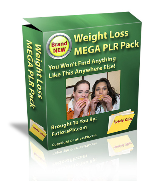 Pay for Weight Loss Mega PLR Pak - with PLR