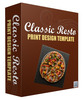 Thumbnail Classic Resto Print Design Template