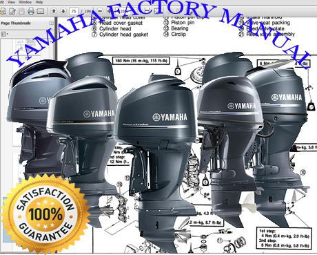 Thumbnail 1998 Yamaha L250 TXRW Outboard service repair maintenance manual. Factory Service Manual