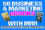 Thumbnail Make Money Online - 50 Business & Marketing eBooks with MRR
