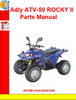 Adly ATV-50 ROCKY II  Parts Manual