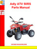 Adly ATV 50RS Parts Manual