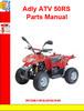 Thumbnail Adly ATV 50RS Parts Manual