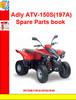 Thumbnail Adly ATV-150S(197A) Spare Parts book