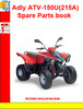 Thumbnail Adly ATV-150U(215A) Spare Parts book