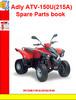 Thumbnail Adly ATV-150U(215A) Spare Parts book