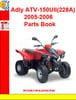 Thumbnail Adly ATV-150UII(228A) 2005-2006 Parts Book