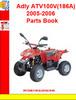 Thumbnail Adly ATV100V(186A) 2005-2006 Parts Book