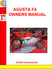 Thumbnail Agusta F4 ORO Owners Manual