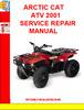 Thumbnail ARCTIC CAT ATV 2001 SERVICE REPAIR MANUAL