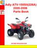 Thumbnail Adly ATV-150SII(226A) 2005-2006 Parts Book