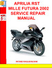 Thumbnail APRILIA RST MILLE FUTURA 2002 SERVICE REPAIR MANUAL