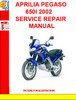 Thumbnail APRILIA PEGASO 650I 2002 SERVICE REPAIR MANUAL