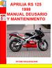 Thumbnail APRILIA RS 125 1998 MANUAL DE USARIO Y MANTIENIMENTO