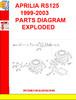 Thumbnail APRILIA RS125 1999-2003 PARTS DIAGRAM EXPLODED