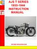 Thumbnail AJS T SERIES 1933-1944  INSTRUCTION MANUAL