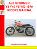 Thumbnail AJS STORMER Y4 Y40 Y5 Y50 1970 RIDERS MANUAL