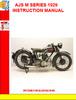 Thumbnail AJS M SERIES 1929  INSTRUCTION MANUAL