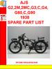 Thumbnail AJS G2,2M,2MC,G3,C,G4,G80,C,G90 1938 SPARE PART LIST