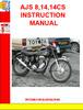 Thumbnail AJS 8,14,14CS INSTRUCTION MANUAL
