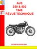 Thumbnail AJS 350 & 500 1949 REVUE TECHNIQUE