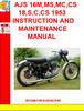 Thumbnail AJS 16M,MS,MC,CS 18,S,C,CS 1953 INSTRUCTION AND MAINTENANCE