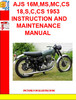 Thumbnail AJS 16,16S,18,31,31CSR,31,31CSR 1963 INSTRUCTION MANUAL