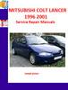 Thumbnail MITSUBISHI COLT, LANCER 1996 - 2001 SERVICE REPAIR MANUALS
