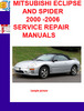 Thumbnail MITSUBISHI ECLIPSE AND SPIDER 2000 -2006 SERVICE REPAIR MANU