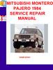 Thumbnail MITSUBISHI MONTERO PAJERO 1984 SERVICE REPAIR MANUAL